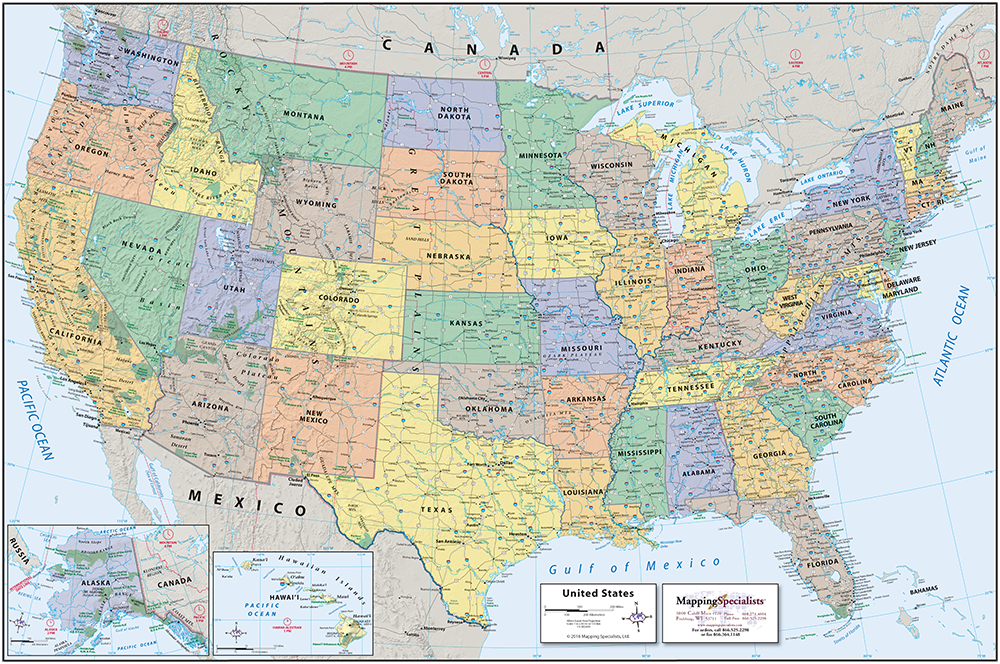 THE MAP OF THE USA